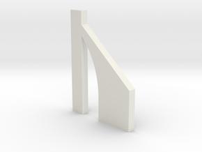 shkr060 - Teil 60 Stützmauerpfeiler breit durchbro in White Natural Versatile Plastic