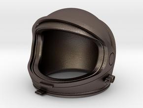 Desktop Astronaut (helmet) in Polished Bronzed Silver Steel