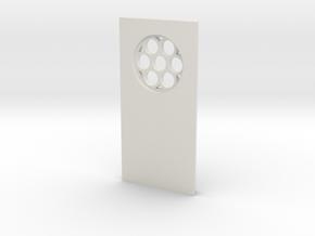 shkr036 - Teil 36 Seitenwand mit Fenster rund goti in White Natural Versatile Plastic