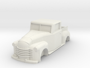 Chevy Truck 1951 Shell (Ho scale) in White Natural Versatile Plastic