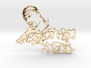 Snoop Doggy Dog Pendant in 14k Gold Plated Brass