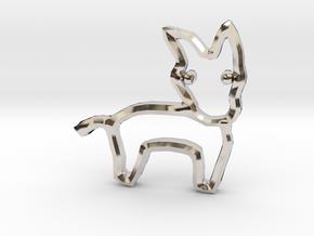 Democrat's Donkey Symbol in Rhodium Plated Brass