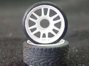 Split-6 Front 20mm Mini-Z Wheel in White Natural Versatile Plastic