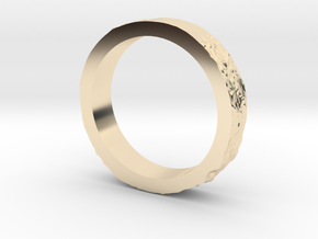 Lunar Landing Site Female (Thin) Moon Ring in 14k Gold Plated Brass: 3 / 44