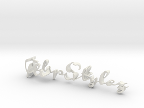 3dWordFlip: FlipStylez/Designs in White Natural Versatile Plastic