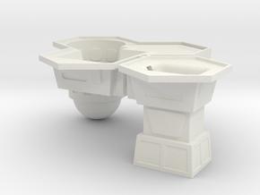 1/285th scale Buildings set (2 pieces) in White Natural Versatile Plastic