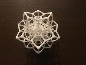 Christmas tree decoration ornament - 120cell_A1_r5 in White Natural Versatile Plastic: Small
