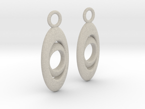 Drop earrings in Natural Sandstone