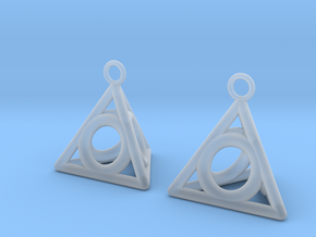 Pyramid triangle earrings serie 3 type 4 in Smooth Fine Detail Plastic