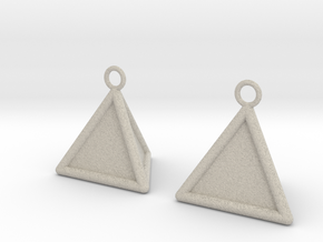 Pyramid triangle earrings type 16 in Natural Sandstone