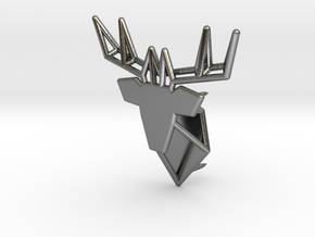 Deer Pin in Polished Silver