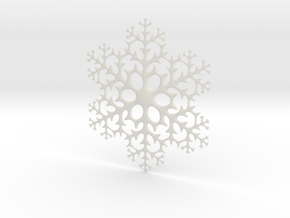 Snowflake in White Natural Versatile Plastic: Large