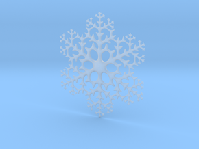 Snowflake in Smooth Fine Detail Plastic: Large