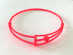 Bangle with Rolling Ball - SMK Melancholy in Red Strong & Flexible Polished