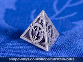 Deathly Hallows d4 in Polished Bronzed Silver Steel