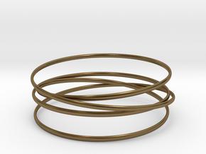 Multispire floating bracelet in Interlocking Polished Bronze: Small