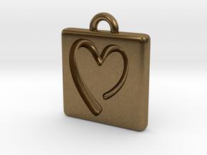 heartPendant in Natural Bronze