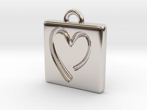 heartPendant in Rhodium Plated Brass