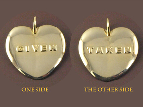 Taken & Given Heart Pendant in 18K Gold Plated