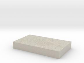Model of Ilha Grande in Natural Sandstone