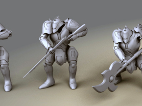 Mech Samurai - Musket in Smooth Fine Detail Plastic