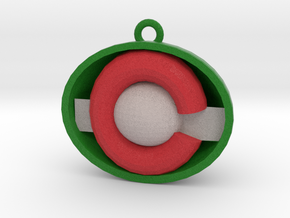 Colorado ornament red and green in Full Color Sandstone