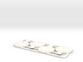 Basic AT-ACT Foot Plates in White Processed Versatile Plastic
