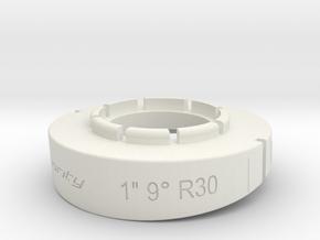 pie cut 1inch 9deg r30 in White Natural Versatile Plastic
