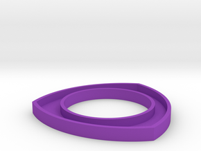 171124 Pup Triangle Bangle Large in Purple Processed Versatile Plastic
