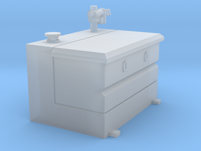1/64 80 gallon L shape tank with tool box in Smooth Fine Detail Plastic