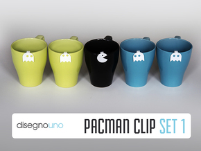 Party Accessories | Pacman (5 pz) in White Processed Versatile Plastic