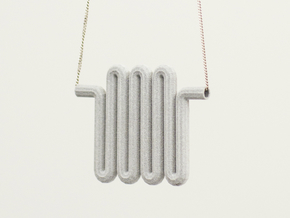Radiator_Pendant in Polished Metallic Plastic