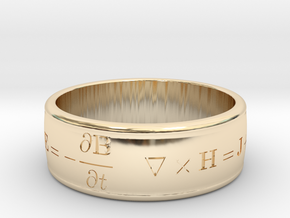 James Clerk Maxwell Ring in 14k Gold Plated Brass: 5 / 49