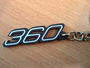 KEYCHAIN 360 in Matte Black Steel