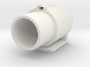 End-cap  in White Natural Versatile Plastic