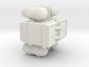NS 2200 feul tank. Scale 0 (1:45) in White Natural Versatile Plastic
