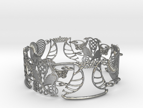 Art NOUVEAU Bracelet - Art Deco - Jugendstil in Natural Silver (Interlocking Parts)