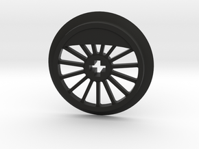 ML Thin Wheel With Counterweight in Black Natural Versatile Plastic