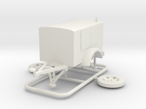 1/72 Pumpenanhaenger (fuel pump) in White Natural Versatile Plastic
