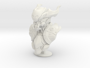 Mech Bust  in White Natural Versatile Plastic: Small