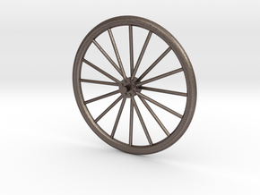 bicycle wheel spinner component in Polished Bronzed Silver Steel