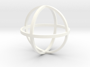 Orb Large 1:12 scale decor in White Processed Versatile Plastic