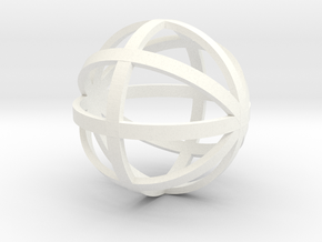 Sphere 1:12 scale decor in White Processed Versatile Plastic