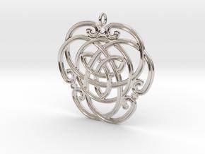 "Celtic Pendant ""Aoibhneas""  (EEV-nass) in Platinum"