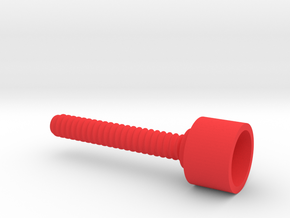 SPC outer threaded screw in Red Processed Versatile Plastic