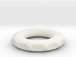 rodin coil donut circle DIY 8 cm 80mm 3.14 inch in White Natural Versatile Plastic