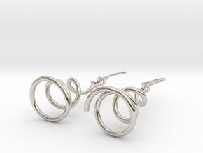 Earrings Twist 001 in Platinum