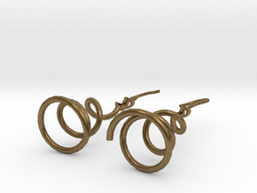 Earrings Twist 001 in Natural Bronze (Interlocking Parts)