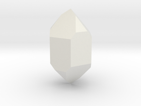 Quartz, 25 mm in White Natural Versatile Plastic