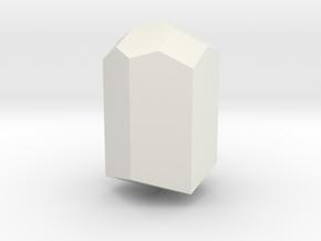 Tourmaline, 25 mm in White Natural Versatile Plastic